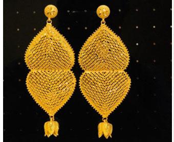 New Designer Golden Plated Trendy Earrings And Bracelets For Women