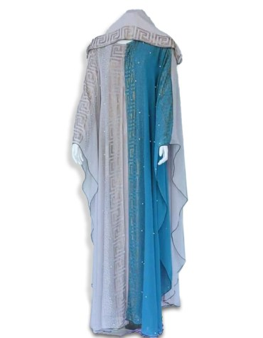 African Attire Long Design Abaya Dresses For Women Moroccan Party Wear Dubai