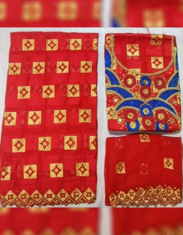 New Latest Classic Swiss Voile Cotton 3 Piece With Beaded Work Dress Material For Women