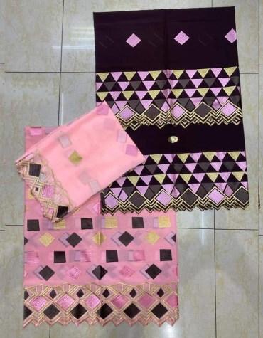 Latest Attire Swiss Voile Designer Cotton 3 Piece Dubai Embroidery Dress Material For Women