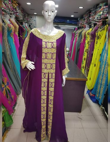 Dubai Formal Wedding Embroidery With Multi Color Stone Kaftan Dresses For Women