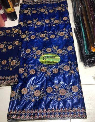 Latest Designer Attire 100 % Super Magnum Gold Getzner Bazin Dress Material For Women