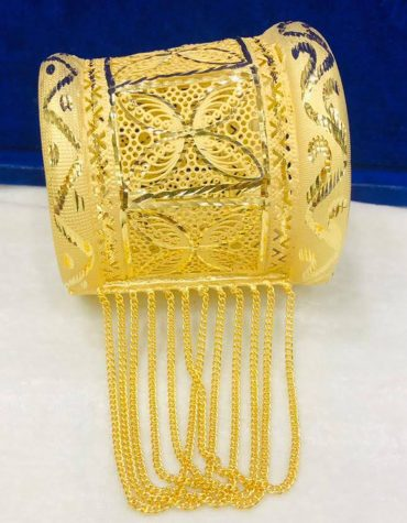 New Trendy Fashionable African Design Evening Party Bangles Jewelry Set For Women