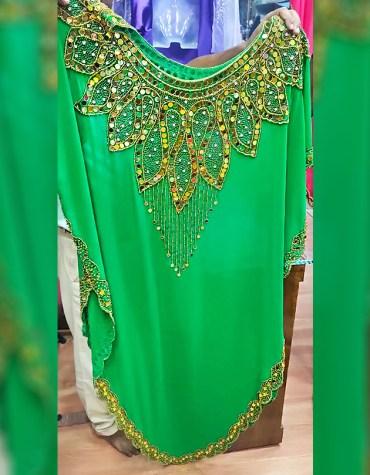 Designer Beach Cover up Evening Party Wear Handmade Abaya Women Dubai Cape Kaftan
