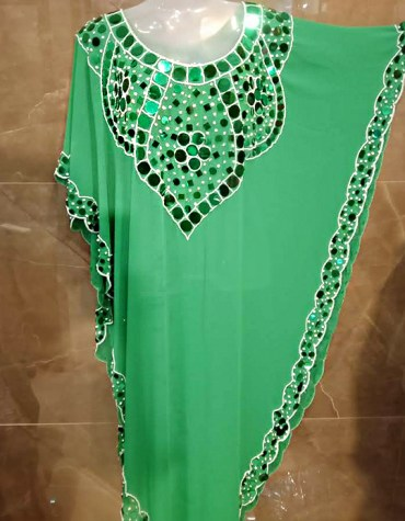 Premium Beach Cover up Evening Party Wear Handmade Abaya Women Dubai Cape Kaftan