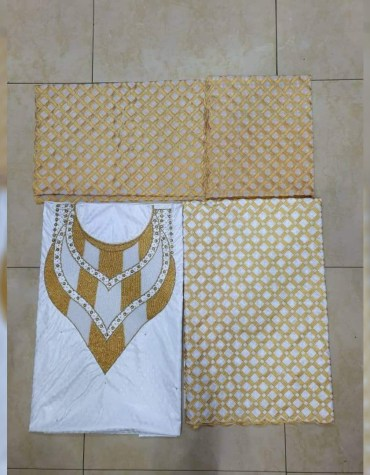 Latest African Designer And Wedding Attire Satin Fancy Dresses Material Wear For Women