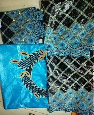 100% Super Magnum Gold Riche Bazin Embroidery African Women Dress Material