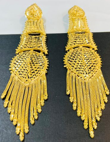 African Attire Latest Trendy Evening Party Wear Designer Earrings for Women