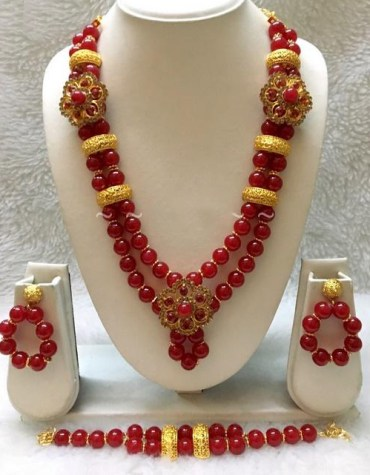 African Elegant and Trendy Unique Design Necklace With Earrings Jewellery