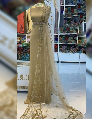 Elegant African Party Wear Crystal Beaded Designer Material for Bridesmaid Dresses For Women