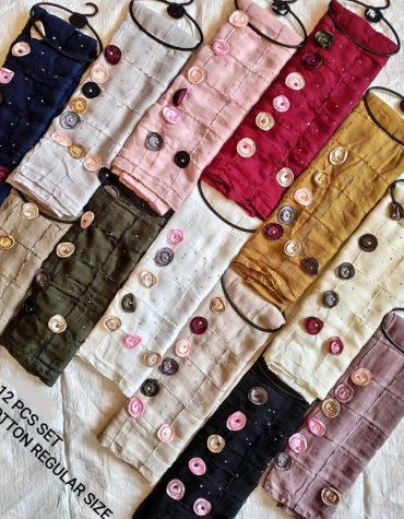 Beautiful Floral Truffle Pearl Beads Handmade Moroccan Cotton Head Scarf