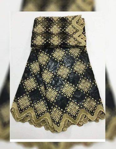 African Attire Dress Material For Women 100% Super Magnum Gold Getzner Rich Bazin