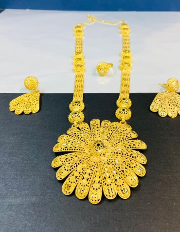 African Fancy 2 Gram Gold Designer Necklace For Women Party & Wedding Wear