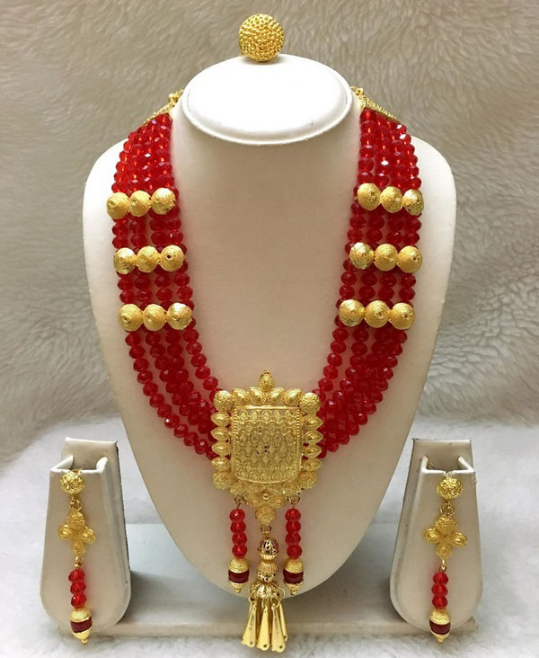 African New Trendy & Unique Design Necklace With Earrings Jewellery for party