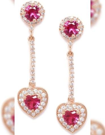 African Golden & Crystal Stone Work Wedding Wear Earrings Zicronia for Women