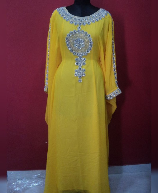 African Attire Long Sleeve Abaya Dresses For Women Moroccan Normal Wear