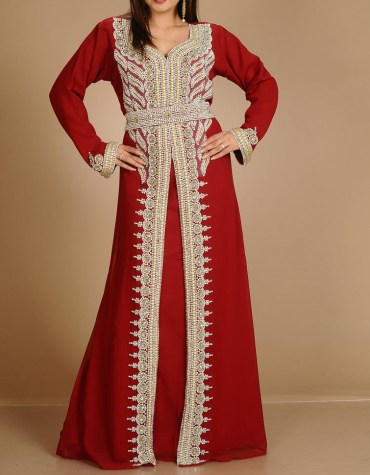 African Attire long Sleeve Party Wear Kaftan Embroidery Wedding For Women