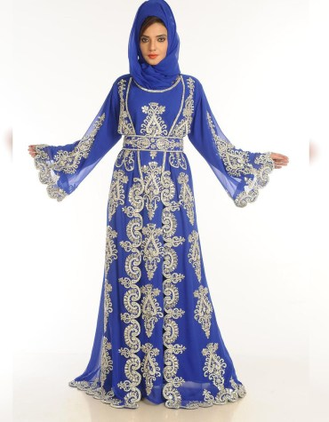 African Attire long Sleeve Party Wear Kaftan beded Wedding Dresses For Women