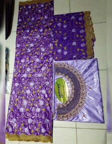 African 100% Super Magnum Gold Riche Bazin Dress Material For Women Party Wear