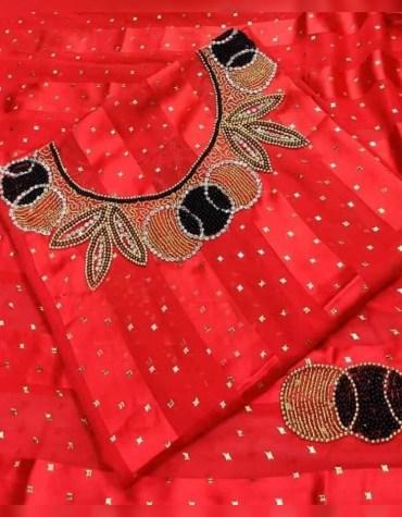 African Attire Satin Silk Party Wear Evening 3 Piece Beaded Dresses for Women