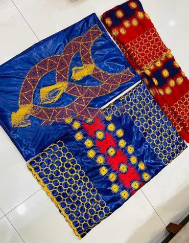 African Rani Riche Fancy New Designer Bazin Embroidery With hand Stone Work For Women