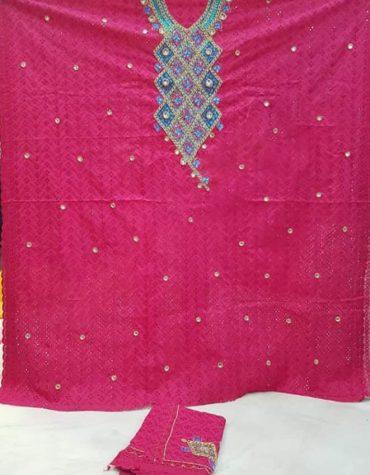 Swiss Voile Designer Cotton Piece Dubai Embroidery Dress Material For Women