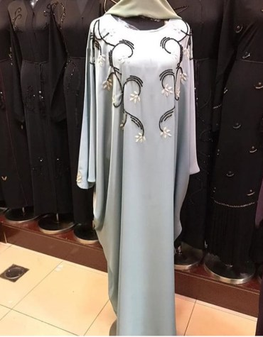 Latest Attire Long Sleeve With Premium Embroidery African Designer Abaya Dresses for Women