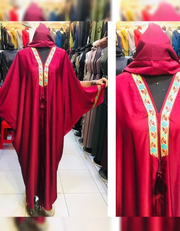 Fancy Attire Long Sleeve With Sleek And Shine African Designer Abaya Dresses for Women