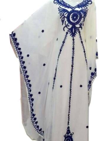 African White Kaftan Ivory Wedding Guest Formal Dubai Dresses For Women