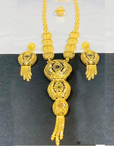 Fashionable Trendy Unique Designer Necklace Set African Jewelry For Women