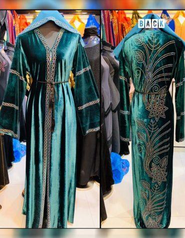 African Attire Golden Rhinestone African Kaftan Dresses for Women's Party Wear