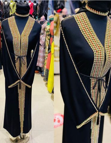 African Long Sleeve With Million Rhinestones And Gold Beaded For Women Moroccan Party Wear Dubai Kaftan