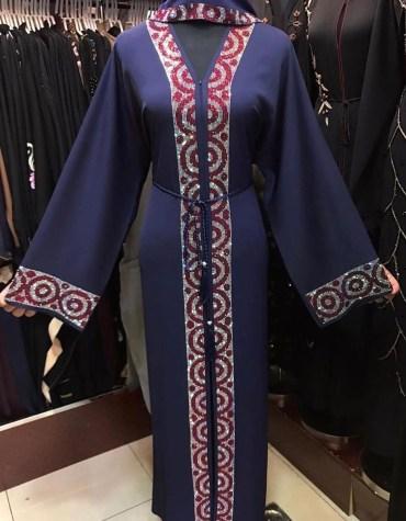 Ladies Designer Soft Nida Fabric Robe Style Long Sleeve Dubai Abaya Forma For Women