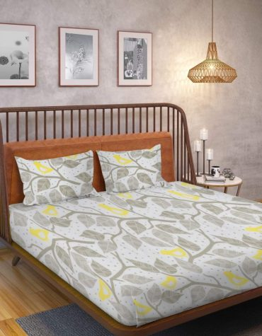 Ahmedabad Cotton 160 TC Cotton King Bedsheet with 2 Pillow Covers