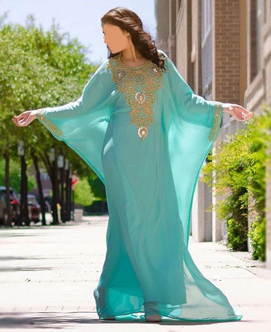 New Dubai Kaftan for Women Beads work Maxi Dress Gown Formal Chiffon African Wear