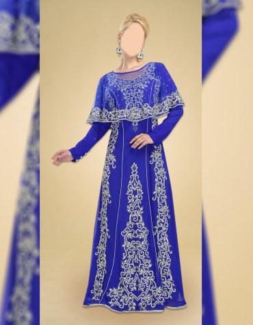 Trendy African Attire Evening Golden Beaded Dubai Kaftan With Crochet Shoulder Designed for Women's