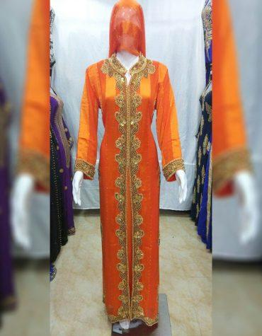 New African Attire Dresses For Swiss Voile Cotton Collared Neck Kaftan Moroccon Dubai