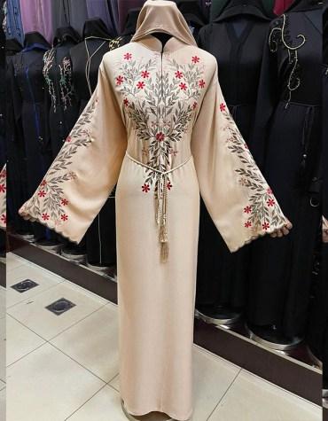Elegant Ladies Designer Soft Nida Fabric Robe Style Long Sleeve Dubai Abaya Formal For Women