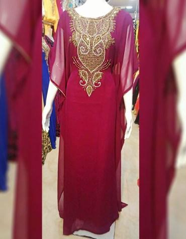 New Premium Designer Heavy Stone work & Chiffon fabrics material Kaftan For Women