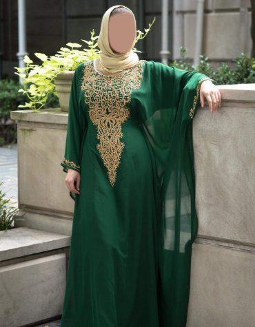 New Latest Golden Beads Chiffon Kaftan Wedding Guest Evening Party wear for Women
