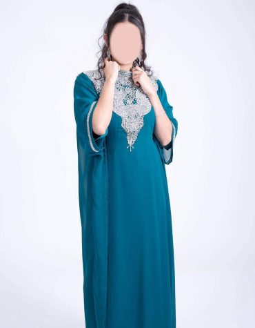 Premium Evening Gown Party Wear With Premium Rhinestone Work Kaftan Dress For Women