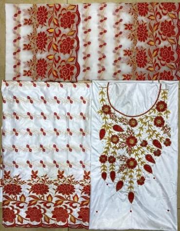 Premium Qualit 100% Super Magnum Gold Getzner Bazin Dress Material For Women