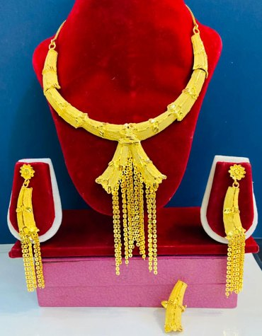 Premium African Evening Party Wear Designer Necklace Jewellery Set For Women