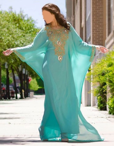 New Dubai Kaftan for Women Beads work Maxi Dress Gown Formal Chiffon African Wear