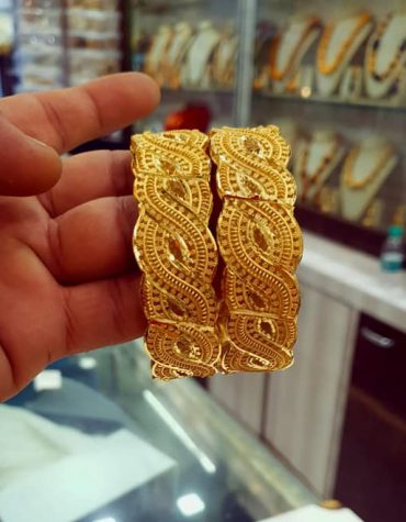 New African Fancy 2 Gram Gold Plated Wedding Bangles Set Jewellery for Women
