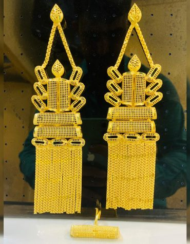 New Premium Gold Platted Glorious Trendy Designer Earrings with Finger Ring Women Jewellery
