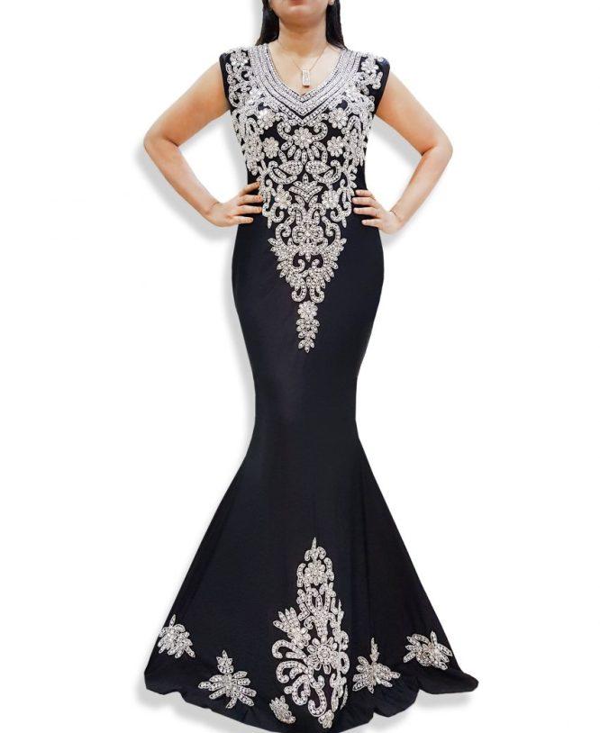 Lycra Prom Sleeveless Open Back Elegant Party Wear Bridesmaid Dress For Women