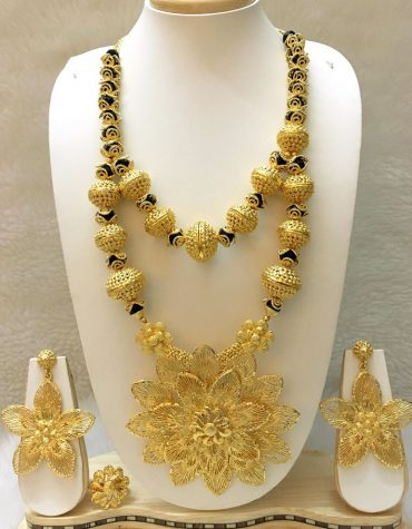 African New Floral Design for Womens Necklace With Earrings Jewellery Party Wear