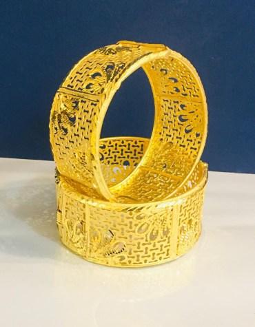 Fancy Designer 2 Gram Golden Plated Couple Bangle Jewellery for Women's Parties