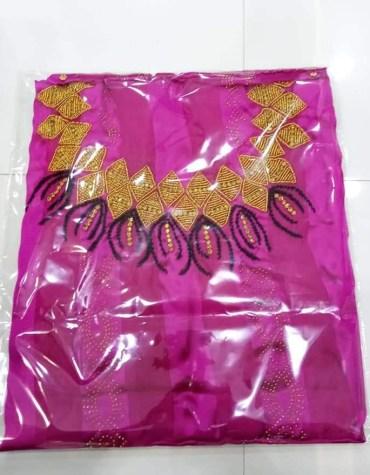 Stylish Clothes Rhinestone & Crystal Work Satin Silk Dress Material For Women